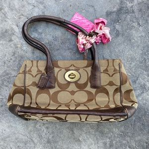 Coach Purse with CUTE scarf!